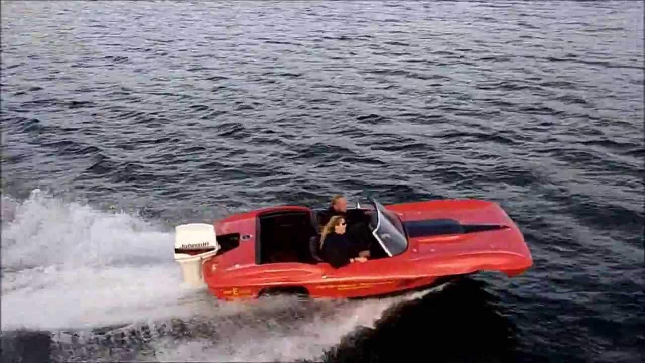 1967 Corvette Boat Running Around The Lake