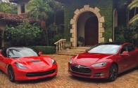 2014 Chevrolet Corvette C7 Z51 vs 2013 Tesla Model S P85