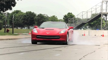 2014 Chevrolet Corvette Stingray – First Burnout! – CAR and DRIVER