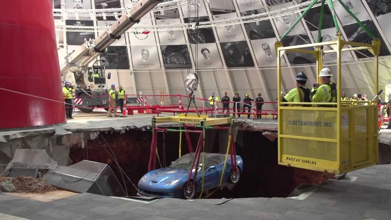 Behind the Scenes of the Corvette Recovery Operation at the National Corvette Museum