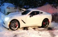 Corvette Z51 Stingray In The Snow
