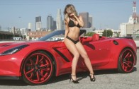 Emily Sears and the Forgiato C7 Widebody Convertible