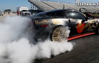 Gold Rush Corvette ZR1 Burnout and Drag Race vs SL63 AMG