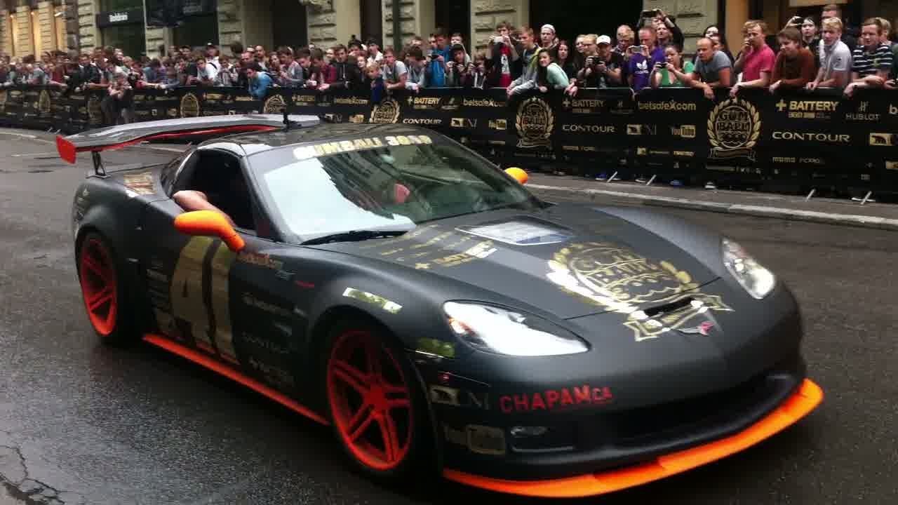 GUMBALL 3000 2013: Supercharged Corvette Burnout