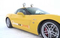 Laponie Ice Driving In A Corvette Z06