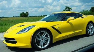 Rolling with a Velocity Yellow 2014 C7 Corvette Stingray