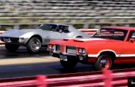 1969 L88 Corvette vs 1972 Olds 442 in Old School Drag Race
