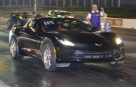 2014 Corvette C7 modded first quarter mile runs