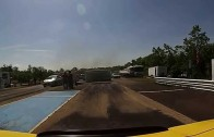 Flying Roof Z06 Corvette at Race Track