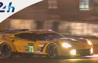 Night Practice for the New Corvette C7.R at the 24 Hours of Le Mans