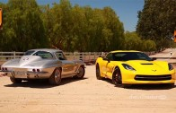 New vs Classic. C7 Corvette Stingray Compared to 1963 Corvette Sting Ray