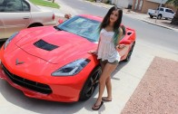 Gamer Girl's 2014 Corvette Stingray Gets Plasti Dip Treatment