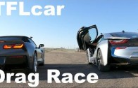 2015 Chevy Corvette Stingray vs BMW i8 Drag Race: V8 vs Hybrid Tech