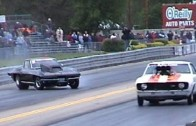1967 Corvette Drag Car Hangs Throttle and Almost Saves It