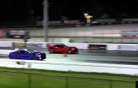 2015 Mustang EcoBoost vs 2014 Corvette Stingray Drag Race