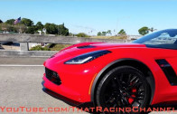 Ferrari Encounters a 2015 C7 Corvette Z06 on the Street!