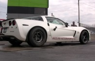 NASTY Twin Turbo Corvette Z06 Tears Up the Dragstrip