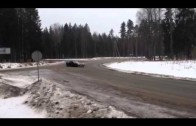 C6 Corvette Z06 Driving in the Snow in Latvia