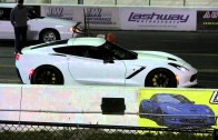 Modded 2015 C7 Corvette Z51 8 Speed 1/4 Mile Drag Race Video