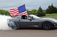 4th of July Corvette Burnout – 'MERICA!!!